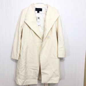 French Connection PLATFORM FELT BELTED COAT Sz 6